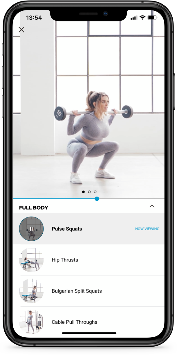Picture of the app's workout page